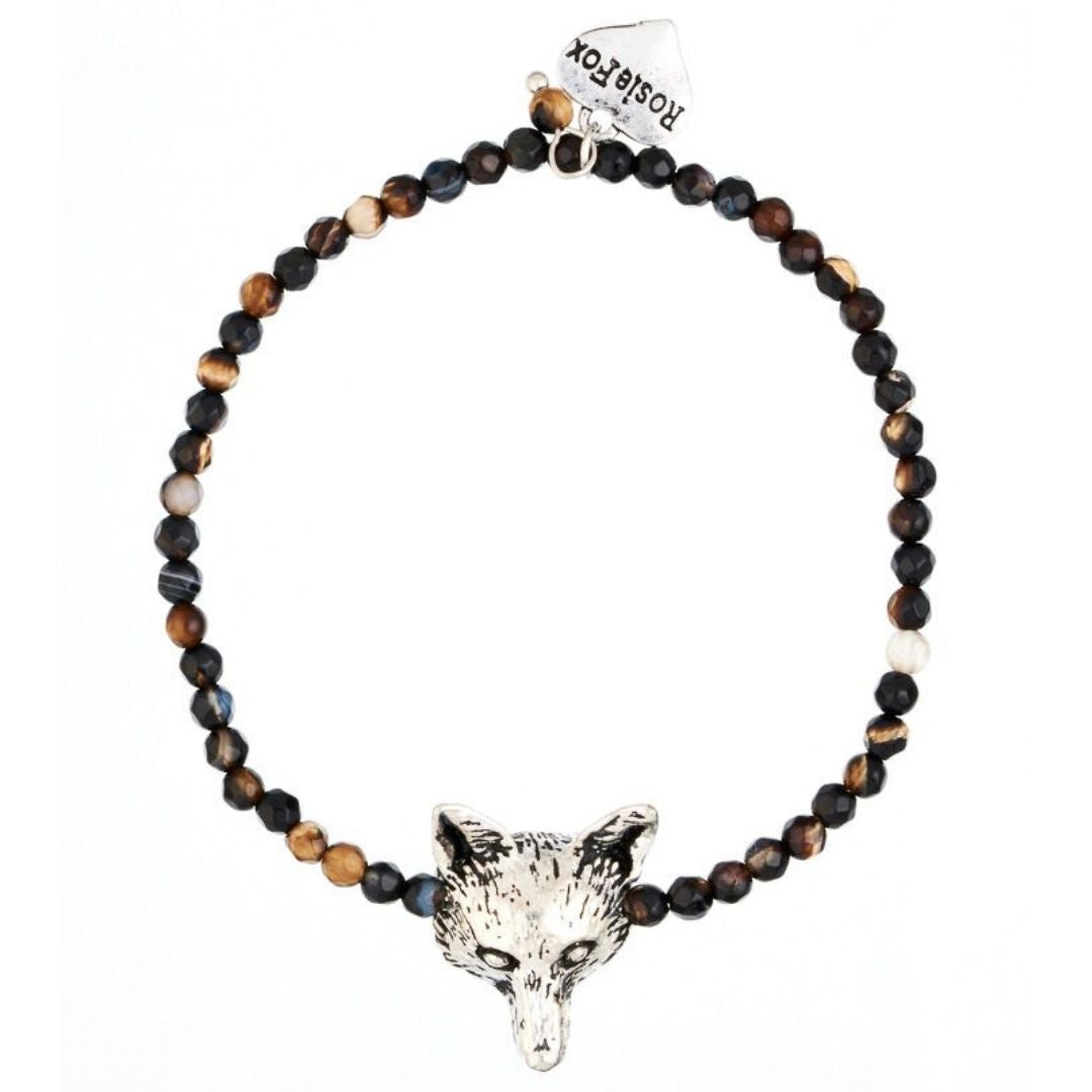 Rosie Fox Cafe Noir Fox Agate Bracelet - Bohemian Finds