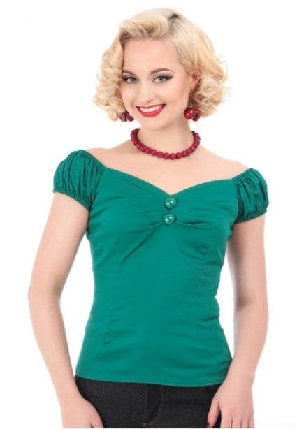 Collectif Dolores Top (Mint Green) - Bohemian Finds