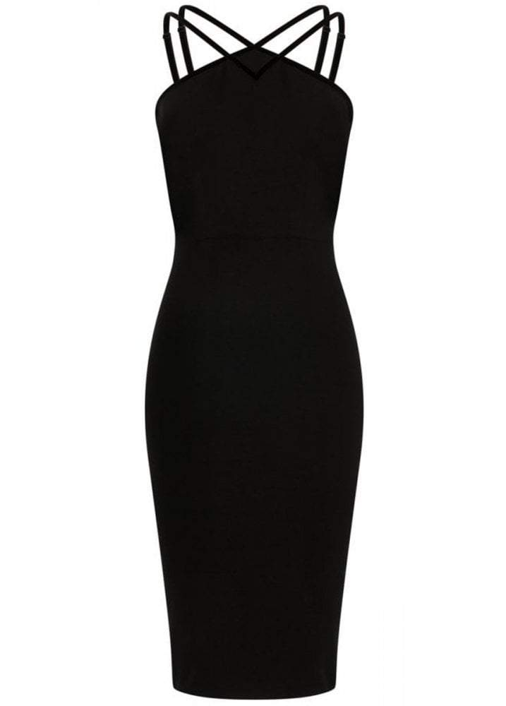 Collectif Alex Black Pencil Dress - Bohemian Finds