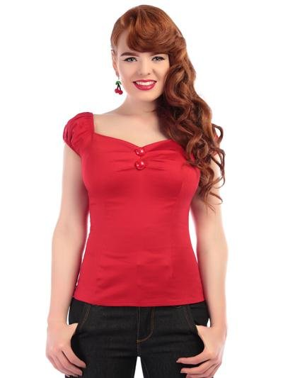 Collectif Dolores Top (Red) - Bohemian Finds