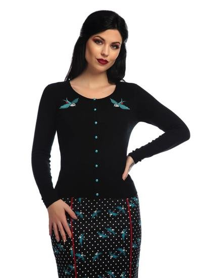 Collectif Jo Rockabilly Swallows Cardigan - Bohemian Finds
