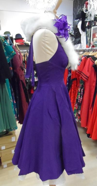 Collectif Marilyn Purple Dress - Bohemian Finds