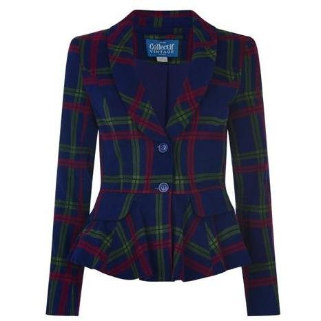 Collectif Meryl Darling Check Jacket - Bohemian Finds