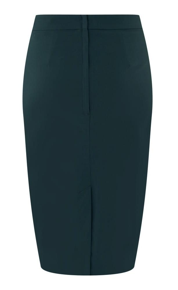 Collectif Polly Plain Bengaline Skirt (Teal) - Bohemian Finds
