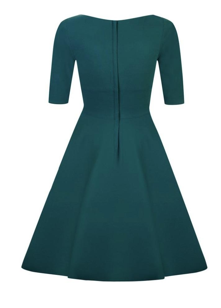 Collectif Trixie Doll Dress (Teal) - Bohemian Finds