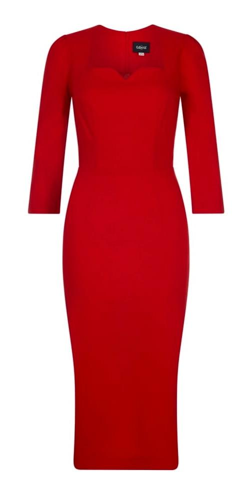 Collectif Vanessa Dress (Red) - Bohemian Finds