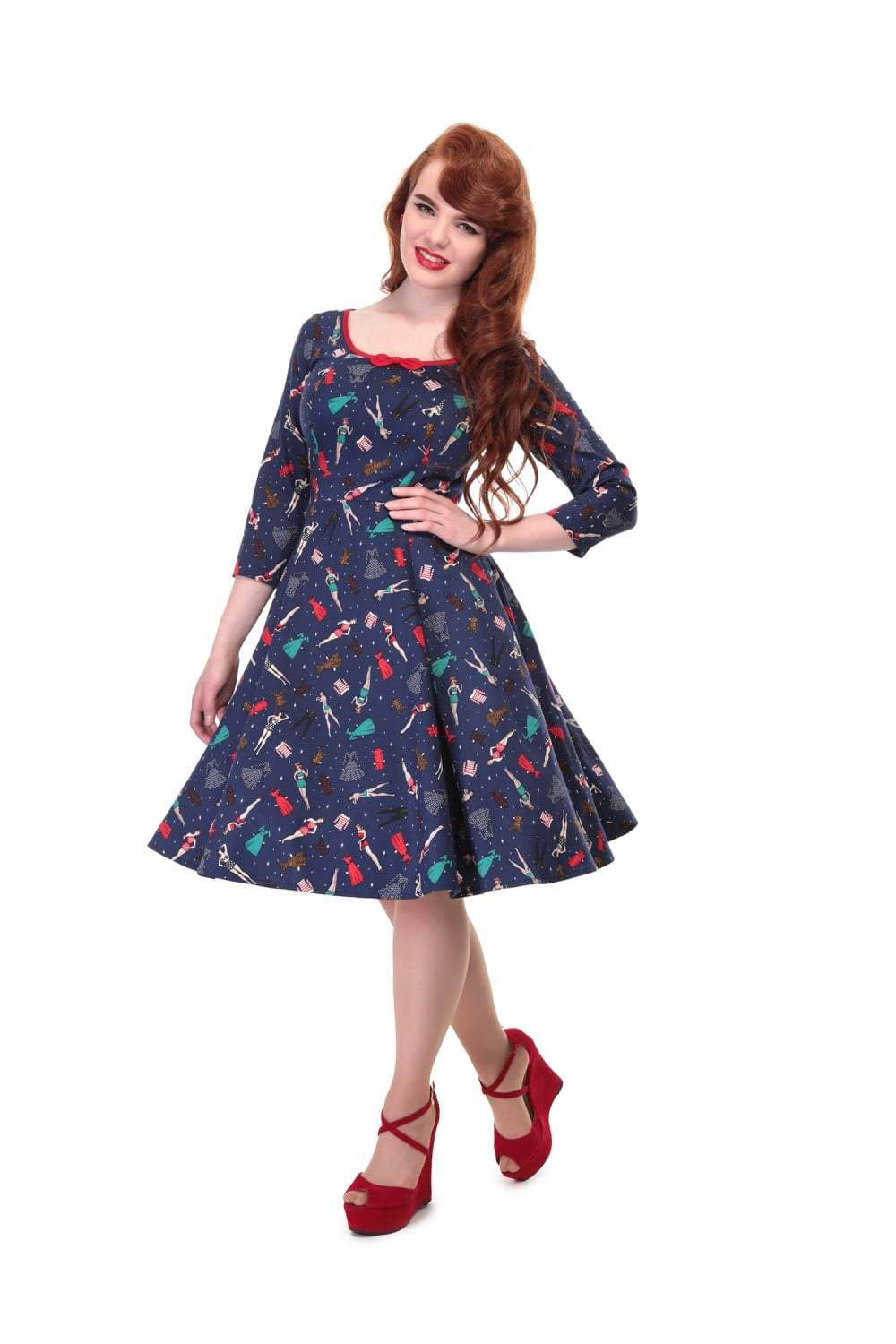 Collectif Willow Paper Pin-up Doll Dress - Bohemian Finds