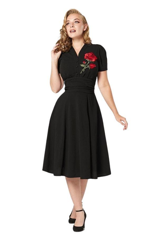Timeless Reema 40s WWII Inspired Tea Dress - Bohemian Finds