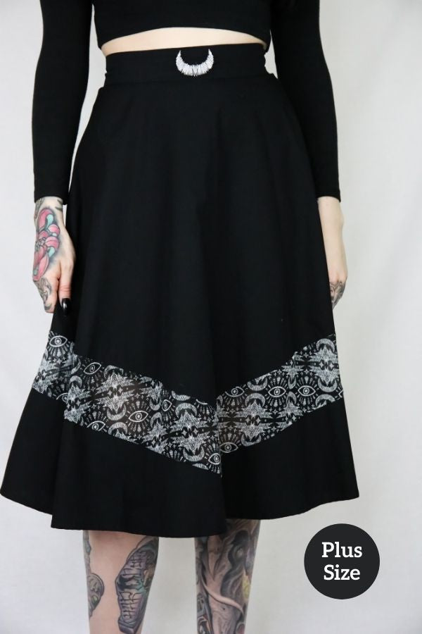 Coven Batwing Midi Skirt - Bohemian Finds