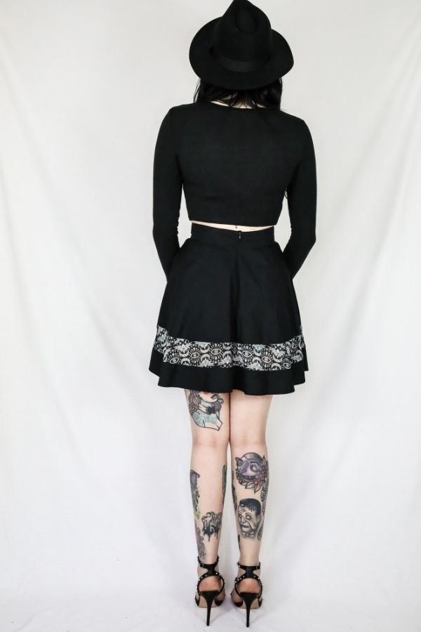Coven Batwing Short Skirt - Bohemian Finds