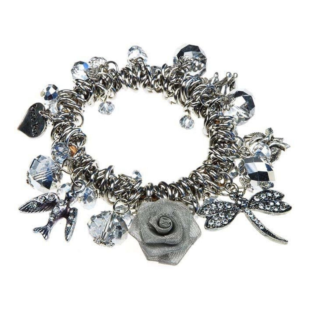 Rosie Fox Crystal Charm Cuff - Bohemian Finds
