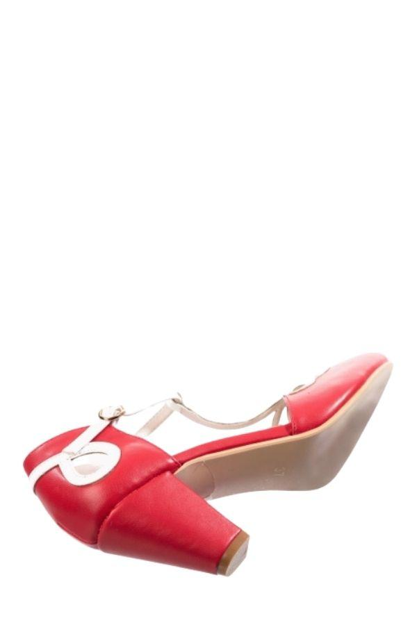 Dancing Days 1950s Lively Aimee Red High Heel Shoes - Bohemian Finds