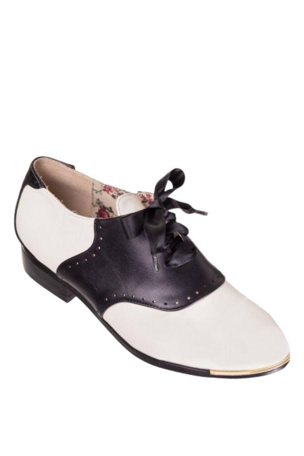 Dancing Days COLLEEN Vintage 40s Saddle Oxford Brogue - Bohemian Finds