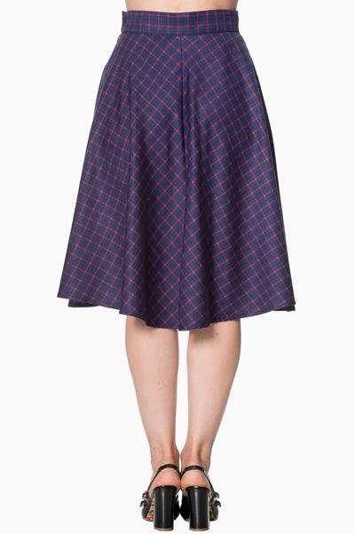 Dancing Days Weekend Skirt (Navy/Red) - Plus Size - Bohemian Finds