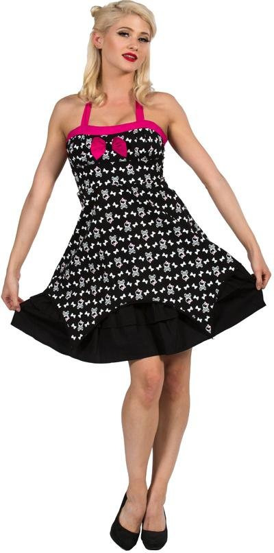 Dead Threads Black/Pink Skull Dress - Bohemian Finds