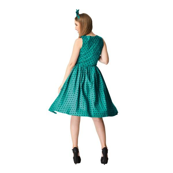 Dolly & Dotty Annie 50s Polka dot dress (Green/Black) - Bohemian Finds