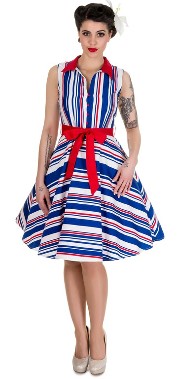 Dolly & Dotty Poppy Retro Shirt Swing Dress - Bohemian Finds