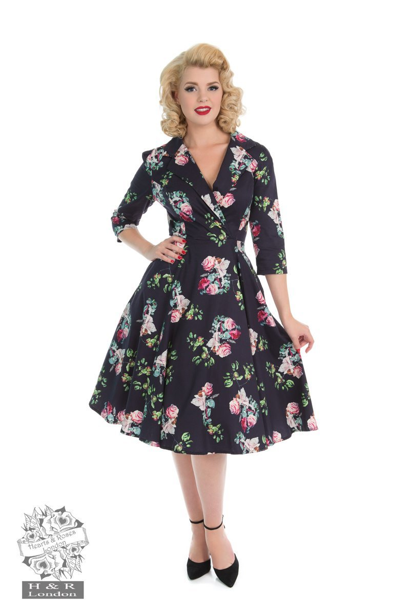 H & R London Marietta Swing Dress - Bohemian Finds