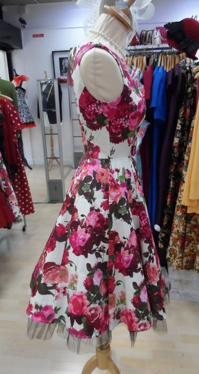 H&R London Audrey Cream Floral Dress (Plus Size) - Bohemian Finds
