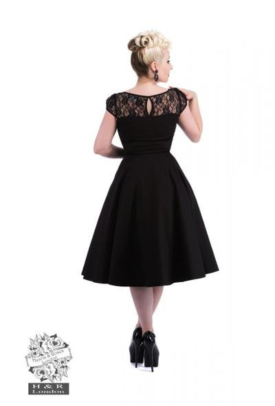 H&R London Black Lace Swing Dress - Bohemian Finds