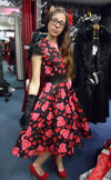H&R London Hearts & Roses Dress (Plus Size) - Bohemian Finds