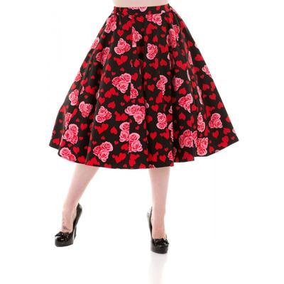 H&R London Hearts & Roses Skirt - Bohemian Finds