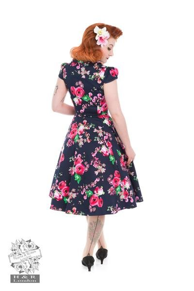H&R London Midnight Garden Floral Tea Dress - Bohemian Finds
