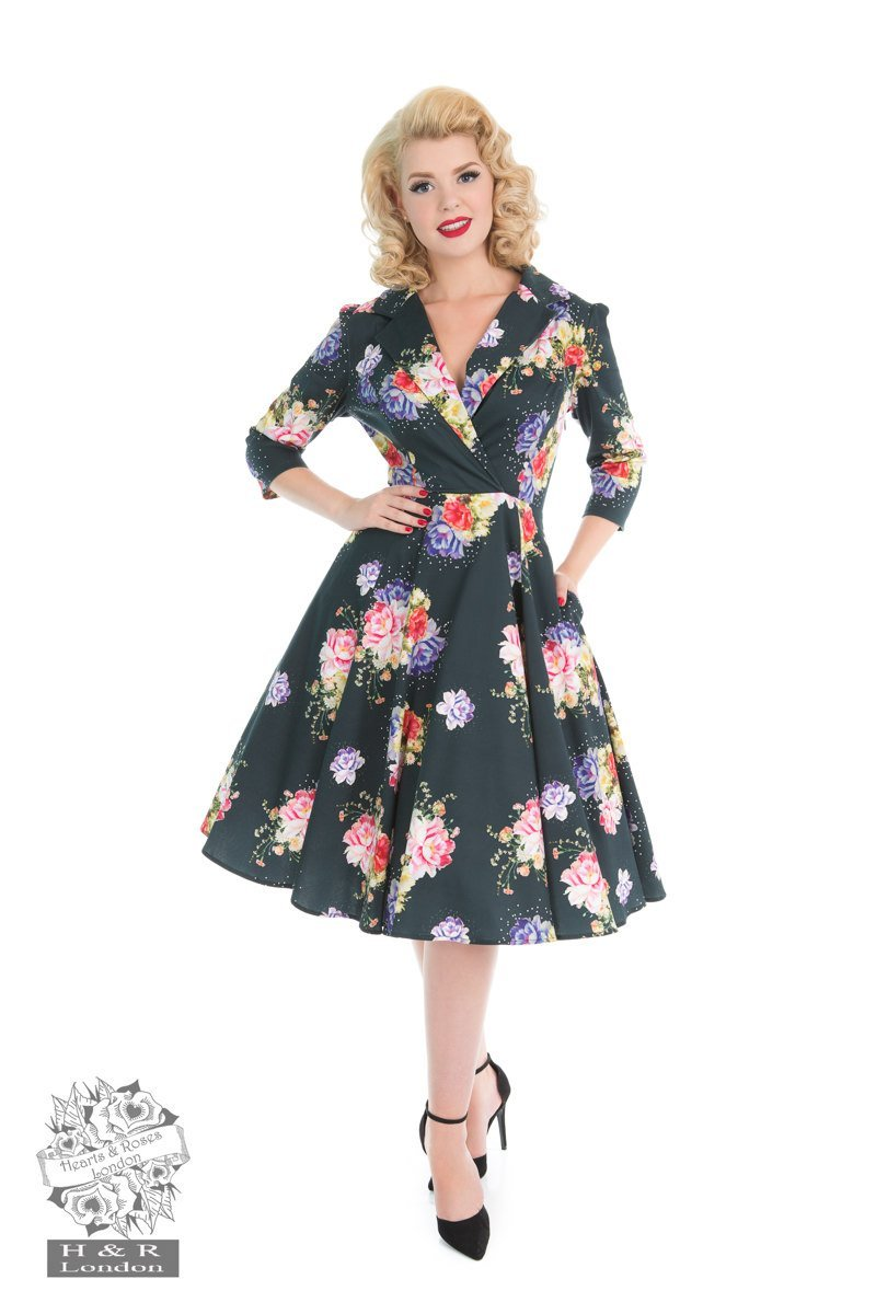 H&R London Stardust Floral Swing Dress - Bohemian Finds