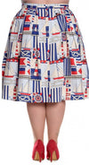 Hell Bunny - Lighthouse Cream Skirt (Plus Size) - Bohemian Finds