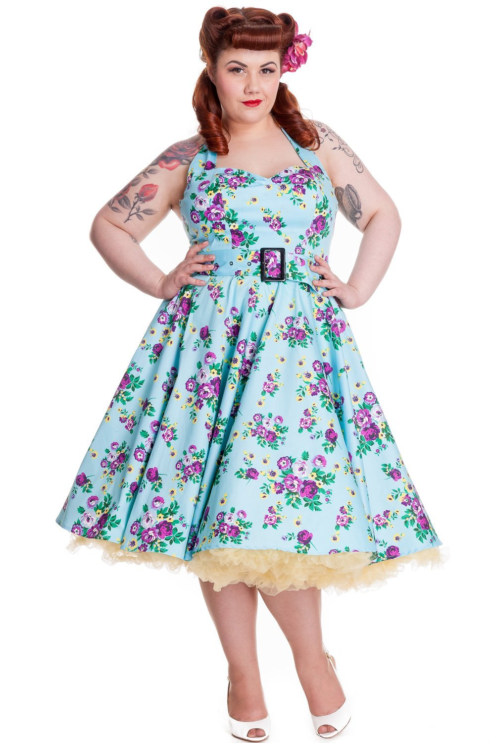 Hell Bunny - May Day Floral Dress (Plus Size) - Bohemian Finds