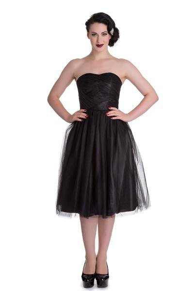 Hell Bunny 50's Black Tamara Dress - Bohemian Finds