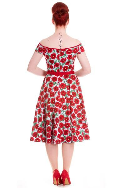 Hell Bunny 50's Cordelia Dress (Blue) - Bohemian Finds