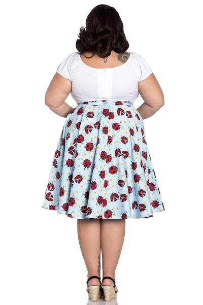 Hell Bunny 50's Lila Skirt (Plus Size) - Bohemian Finds
