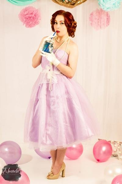 Hell Bunny 50's Pastel Lavender Tamara Dress - Bohemian Finds