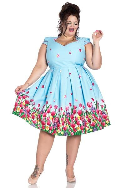 Hell Bunny Angelique 50's Dress (Plus Size) - Bohemian Finds