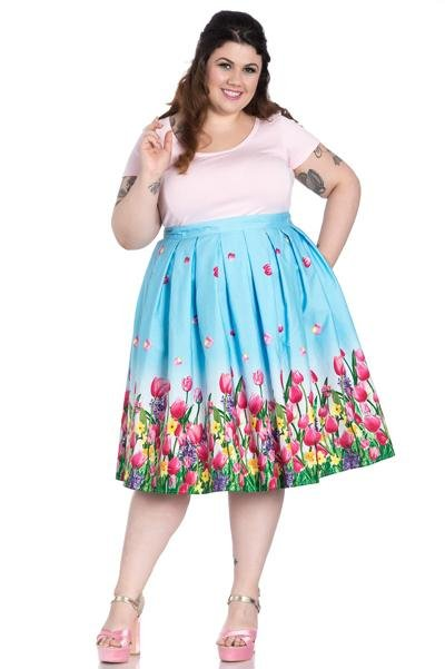 Hell Bunny Angelique 50's Skirt (Plus Size) - Bohemian Finds