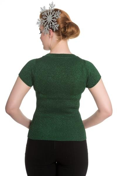 Hell Bunny Angette Top (Green) - Bohemian Finds