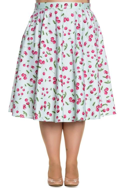 Hell Bunny April Mint 50's Skirt (Plus Size) - Bohemian Finds