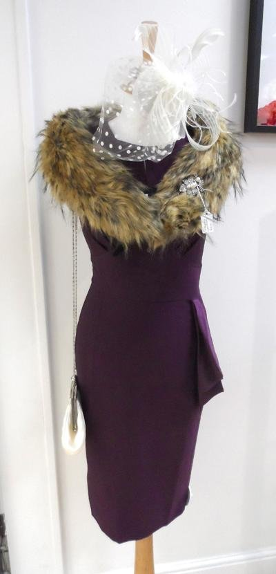Hell Bunny Bernadette Dress (aubergine) - Bohemian Finds