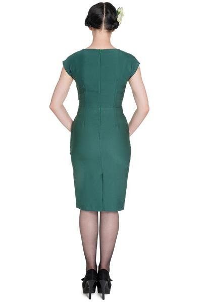 Hell Bunny Bernadette Dress (green) - Bohemian Finds