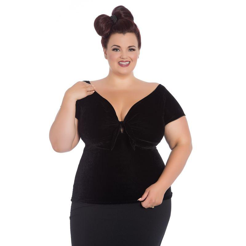 Hell Bunny Black Sugar Top (Plus Size) - Bohemian Finds