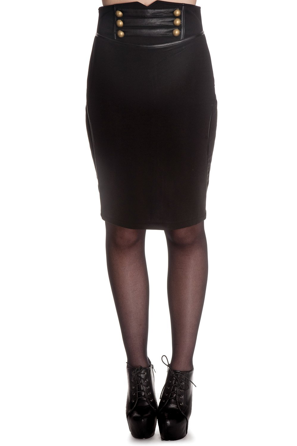 Hell Bunny Black Watch Skirt - Bohemian Finds