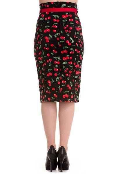 Hell Bunny Cherry Pop Pencil Skirt (Plus Size) - Bohemian Finds