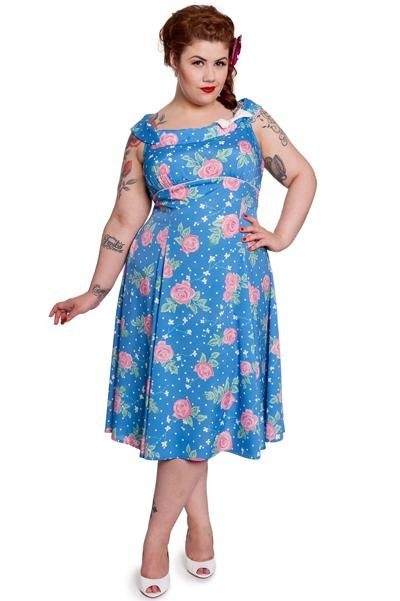 Hell Bunny Darlene Dress (Plus Size) - Bohemian Finds