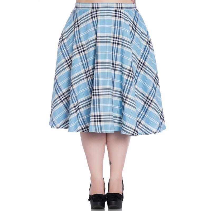 Hell Bunny Doralee Pastel Blue 50's Skirt (Plus Size) - Bohemian Finds