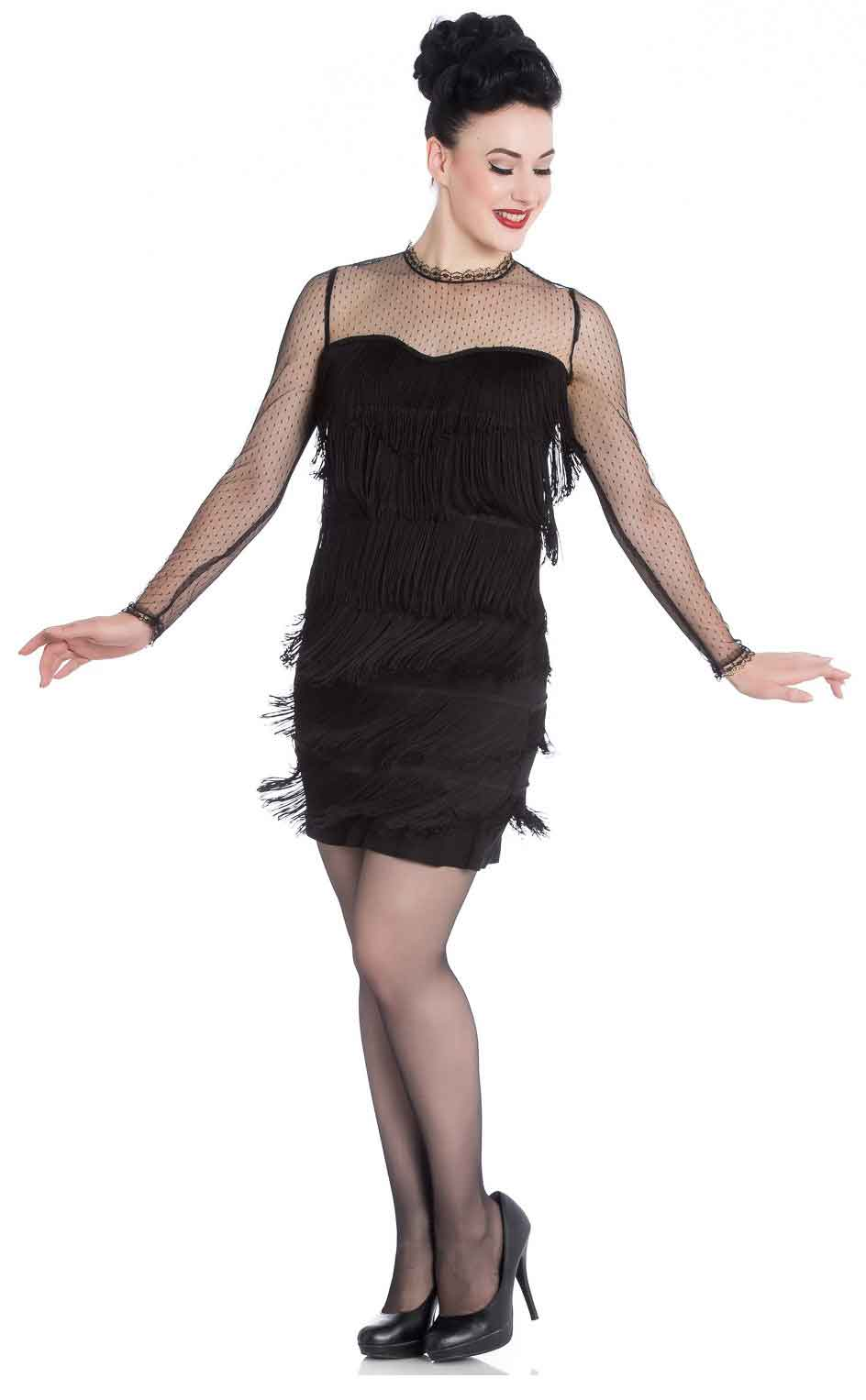 Hell Bunny Gin Rickey 1920's Dress (Black) - Bohemian Finds