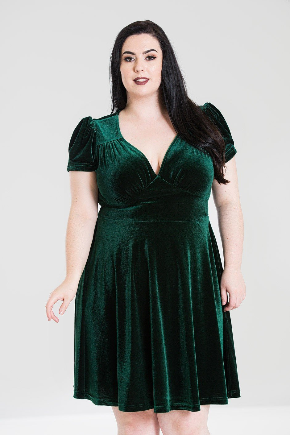 Hell Bunny Green Joanne Dress (Plus Size) - Bohemian Finds