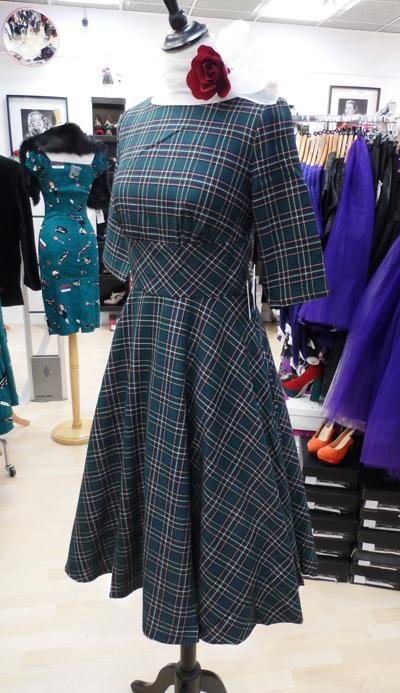 Hell Bunny Green Peebles 50's Dress (Plus Size) - Bohemian Finds