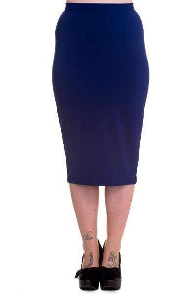 Hell Bunny Joni Skirt (Navy) - Bohemian Finds