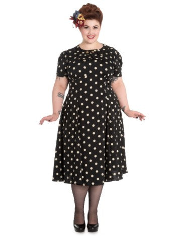 Hell Bunny Madden Black Dress (Plus Size) - Bohemian Finds